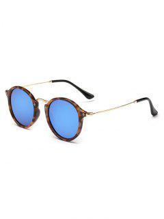Anti Fatigue Metal Frame Driving Sunglasses - Ocean Blue