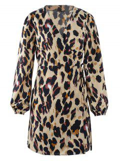 Vestido Del Abrigo Del Leopardo - Leopardo M