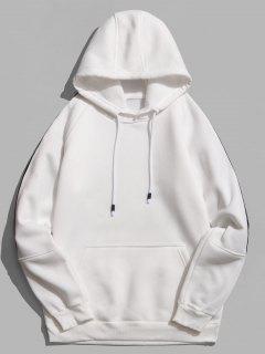 Rinbbon Splicing Raglan Sleeve Hoodie - White S