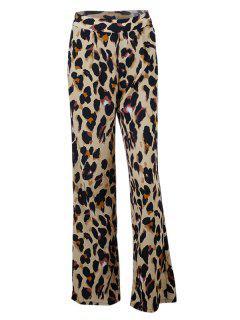 Pantalones De Leopardo Palazzo - Leopardo L