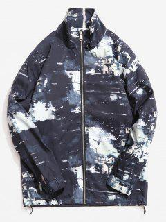 Stand Collar Camouflage Pattern Jacket - Black 2xl