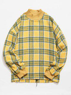 Casual Plaid Woolen Sweatshirt - Rubber Ducky Yellow L