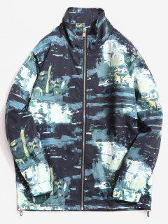 Stand Collar Camouflage Pattern Jacket - Acu Camouflage Xl