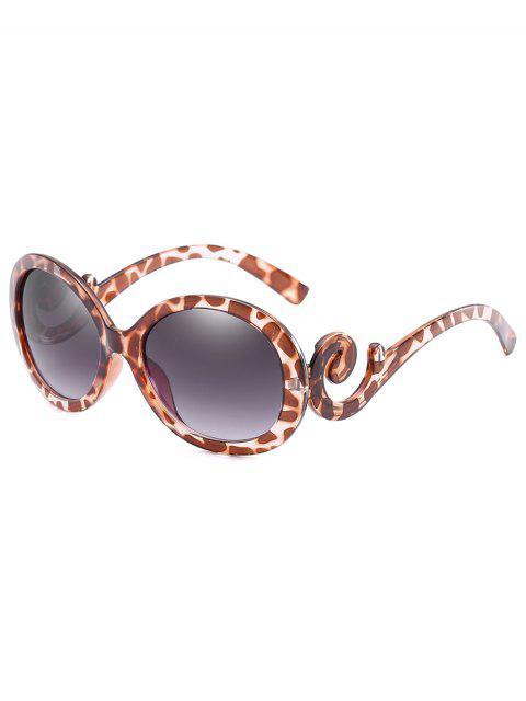 fashion Stylish Oval Frame Anti Fatigue Sunglasses - LEOPARD  Mobile