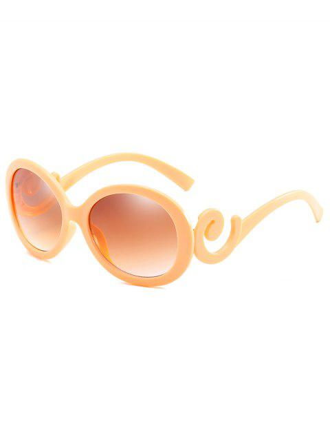 online Stylish Oval Frame Anti Fatigue Sunglasses - GOLDEN BROWN  Mobile