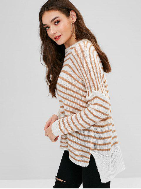 women Striped Loose Knit Oversized Sweater - MULTI ONE SIZE Mobile