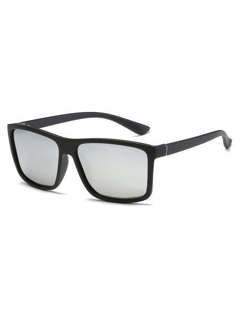 women Vintage Flat Lens Full Frame Driving Sunglasses - SILVER  Mobile