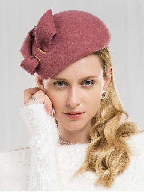 best Solid Color Woolen British Hat - LIPSTICK PINK  Mobile