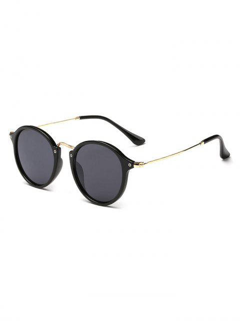 sale Anti Fatigue Metal Frame Driving Sunglasses - BLACK  Mobile