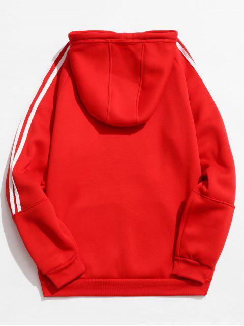 shops Rinbbon Splicing Raglan Sleeve Hoodie - RED XS Mobile