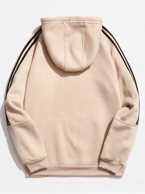 outfit Rinbbon Splicing Raglan Sleeve Hoodie - KHAKI XS Mobile