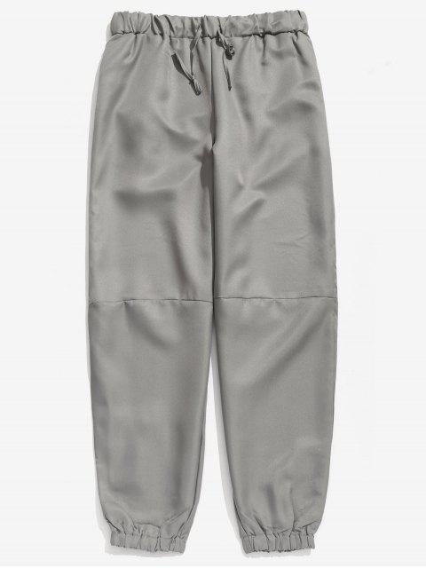 Pantalon de Jogging Lâche Taille à Cordon - Nuage Gris XL Mobile