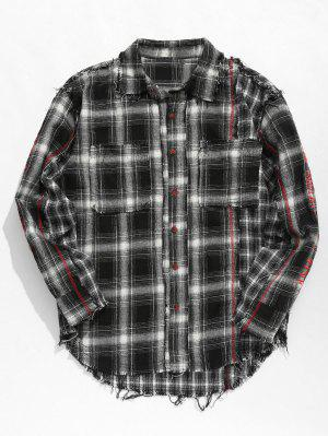 Quasten Plaid Patchwork Shirt