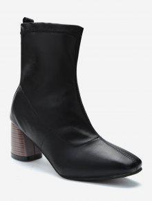 كعب مكتنزة الانزلاق على أحذية قصيرة - أسود الاتحاد الأوروبي 38