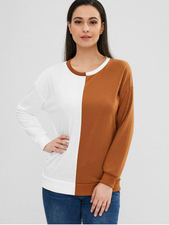buy Tunic Two Tone Pullover Sweatshirt - MULTI M