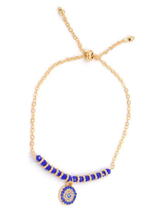 affordable Colored Rhinestone Inlaid Rounded Chain Bracelet - GOLD