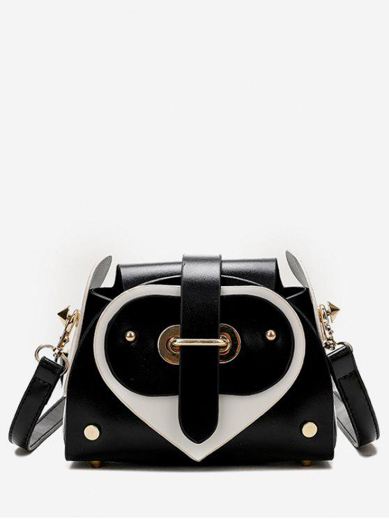 outfit Contrast Color Going Out Crossbody Bag - BLACK