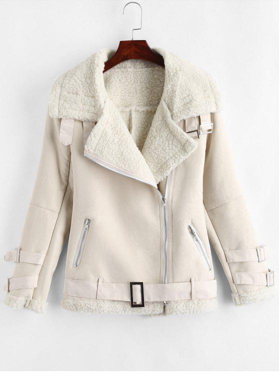Forro de cremallera inclinado forro chaqueta - Crema de Cristal L