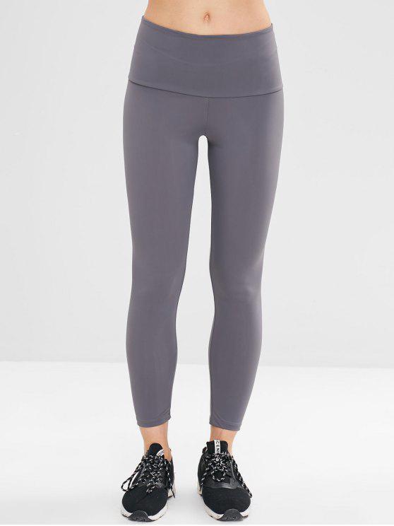 outfits Plain Ninth Leggings - BATTLESHIP GRAY ONE SIZE