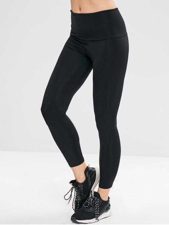Plain Neunte Leggings - Schwarz Eine Größe