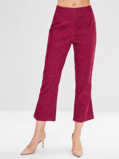 Pantalones De Pana Con Cremallera Mosca - Oscuro Clavel Rosa M