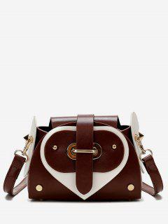 Contrast Color Going Out Crossbody Bag - Chestnut Red
