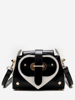 Contrast Color Going Out Crossbody Bag - Black