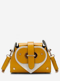 Contrast Color Going Out Crossbody Bag - Yellow