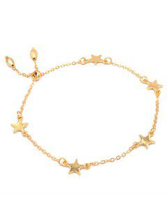 Stylish Alloy Star Chain Bracelet - Gold