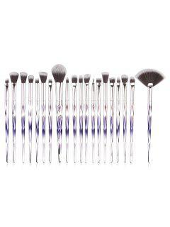 Professional 20 Pcs Omber Fiber Makeup Brush Collections - Multi-c