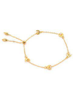 Unique Alloy Moon Chain Bracelet - Gold