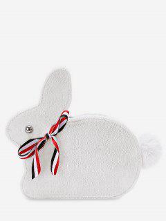 Faux Fur Rabbit Shape Crossbody Bag - White