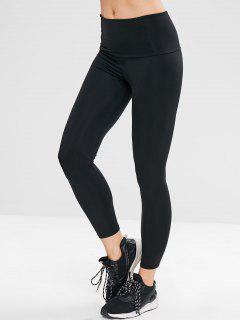 Plain Ninth Leggings - Black