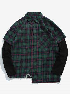 Faux Twinset Checked Shirt - Green Xl
