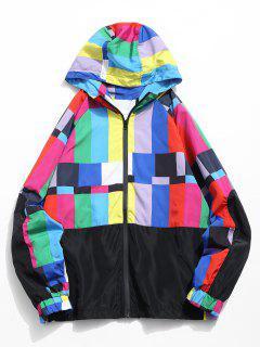 Chaqueta Con Capucha Zip Fly Color Block - Multicolor Xl