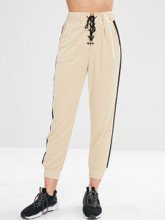 ZAFUL Joggers Terry Sweatpants - Blanched Almond S
