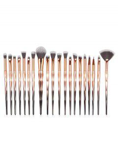 Professional 20 Pcs Omber Fiber Makeup Brush Collections - Multi-a