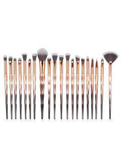 Collection De Brosse De Maquillage Professionnelle En Fibre Ombre 20 Pièces - Multi-a