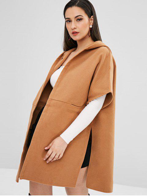 Manteau à Capuche Poncho Chauve-souris Surdimensionné - Brun Légère L Mobile