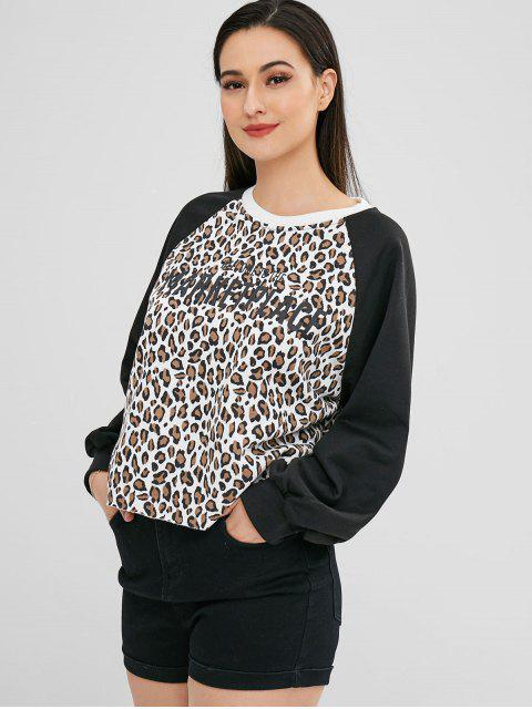 Sudadera Estampado Letras y Leopardo - Leopardo Talla única Mobile