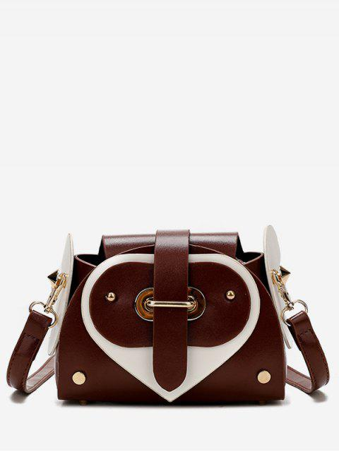 hot Contrast Color Going Out Crossbody Bag - CHESTNUT RED  Mobile