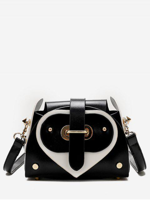 outfit Contrast Color Going Out Crossbody Bag - BLACK  Mobile