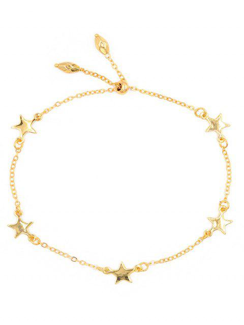 women Stylish Alloy Star Chain Bracelet - GOLD  Mobile