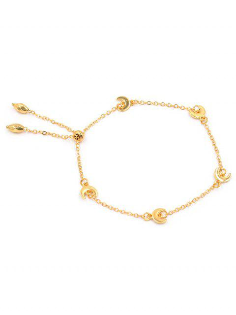 affordable Unique Alloy Moon Chain Bracelet - GOLD  Mobile