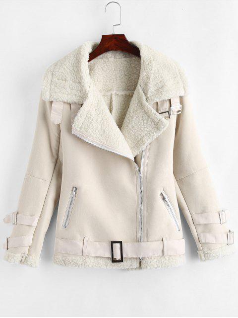 Forro de cremallera inclinado forro chaqueta - Crema de Cristal L Mobile
