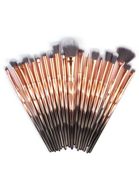 Collection de Brosse de Maquillage Professionnelle en Fibre Ombre 20 Pièces - Multi-A  Mobile