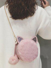 2019 Cat Shape Faux Fur Crossbody Bag In LIGHT PINK   ZAFUL 58e643fe90