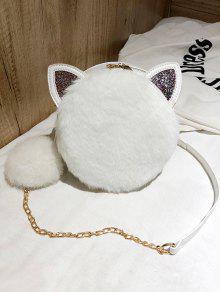 2019 Cat Shape Faux Fur Crossbody Bag In WHITE   ZAFUL 0bd2881c1e