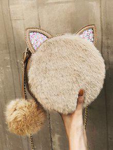 2019 Cat Shape Faux Fur Crossbody Bag In KHAKI   ZAFUL 85b922f139