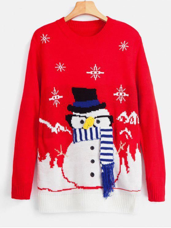 Maglione Di Natale Con Frange - Rosso Taglia unica